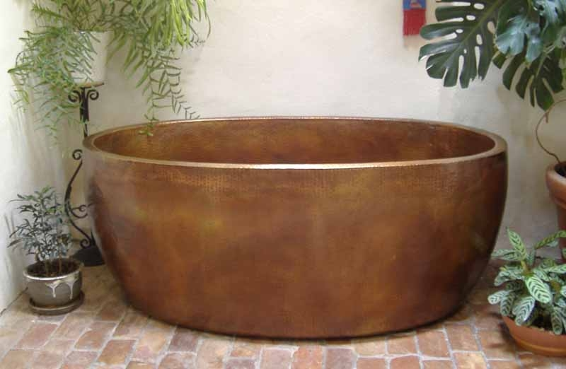 Copper Bathtub | Copper Soaking Tub | Custom Copper Bathtub - Amaia