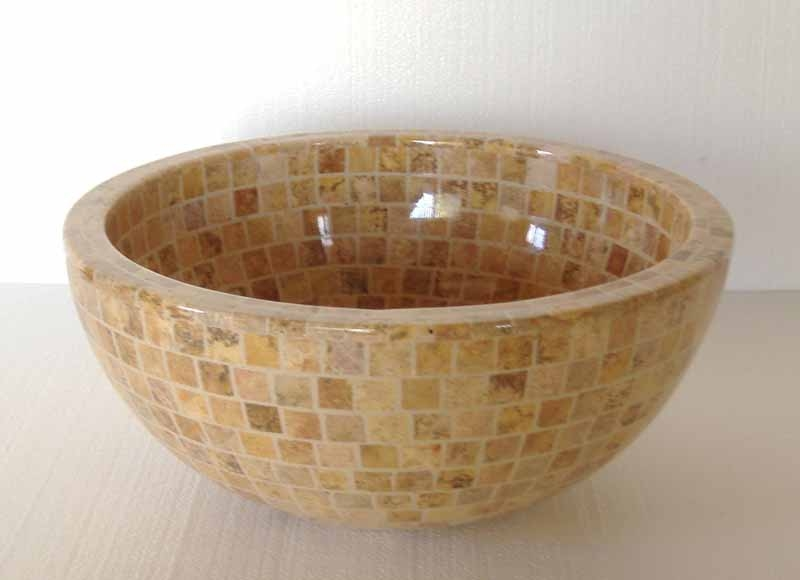 Travertine Pedestal Sink Mosaic Sink Travertine Mosaic Sink Marble Mosaic  Sink Onyx