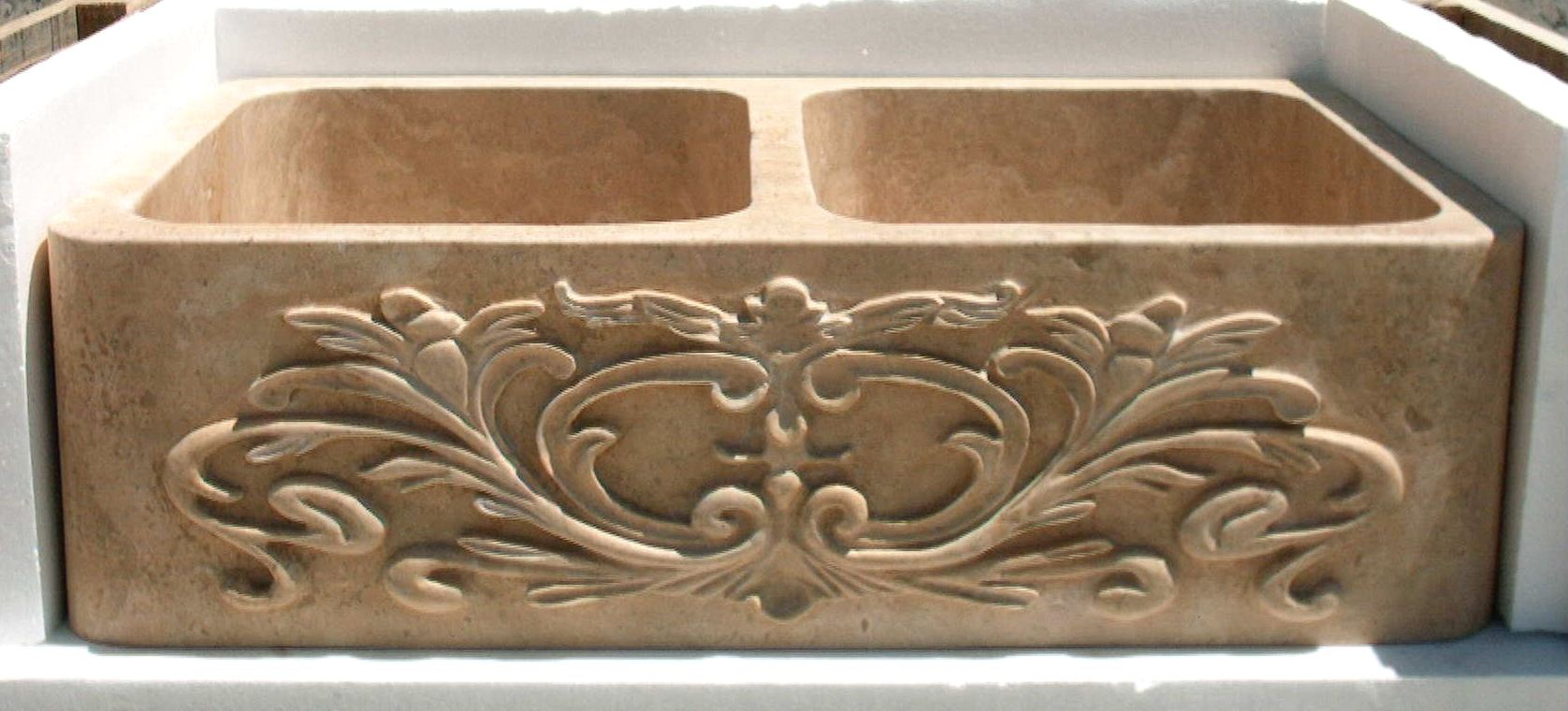 magnolia farm sinks for kitchens Carved Stone Apron Sink Carved Stone Farm Sink Stone Kitchen Sink Magnolia
