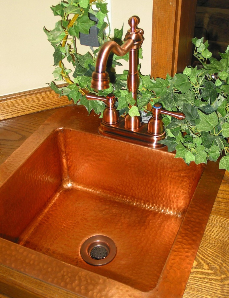 K&R Custom Copper Bar Sink - click for larger view