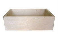 Stone Farm Sink w/Square Corners