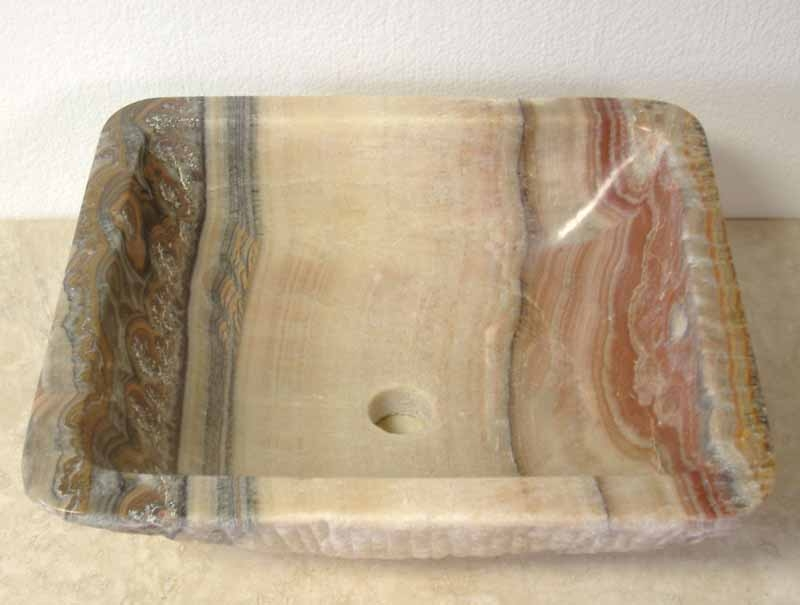 Natural Stone Vessel Sink | Onyx Vessel Sink | Bathroom Vanity Sink -  Freida. '
