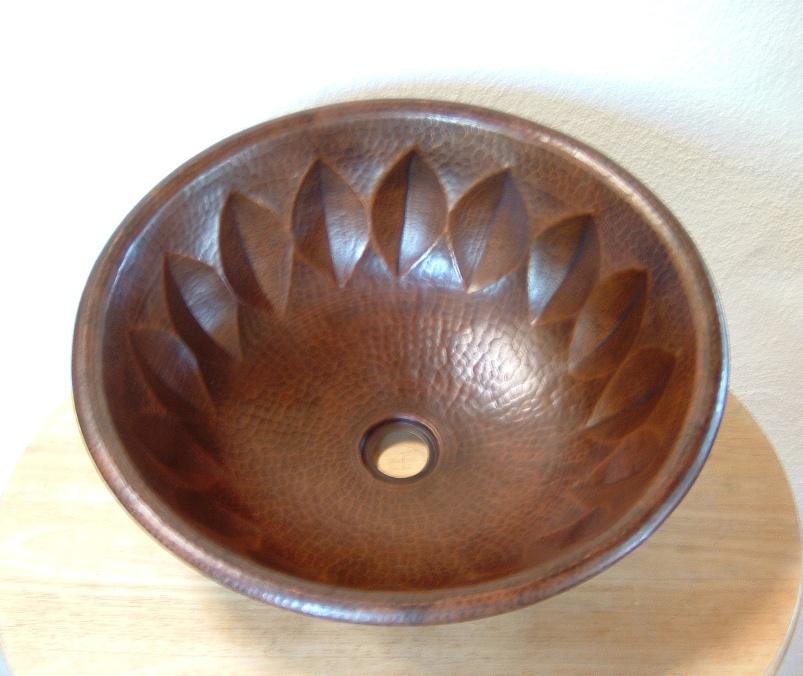 Small Copper Bathroom Sink Vanity Hojas