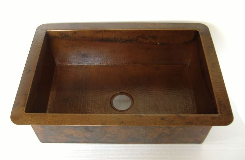 Copper Kitchen Sink | Copper Farm Sink without Apron - Jacinta