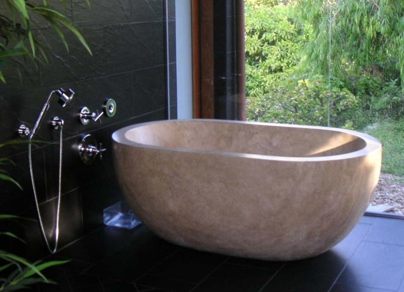 Stone sinks bathtubs in travertine marble onyx for Travertine eye drops