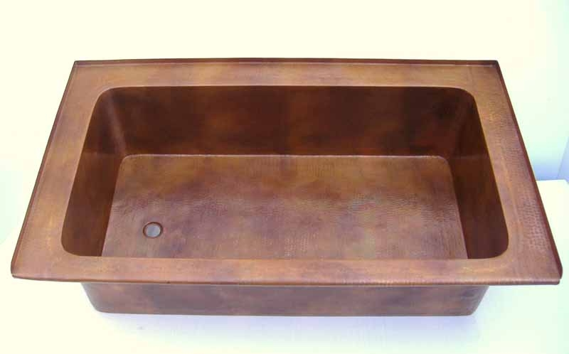 Under Mount Copper Bathtub | Drop In Copper Bathtub | Custom Copper Bath Tub
