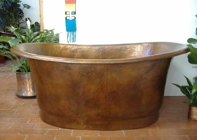 Deep Copper Soaking Tub | Copper Bathtub - Nicol