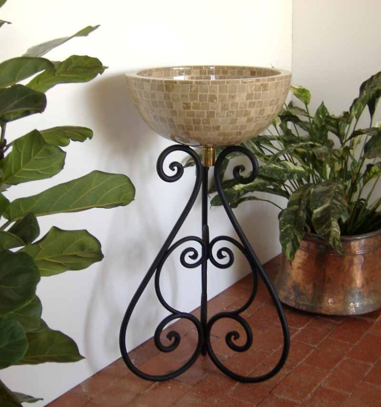 Ornamental Iron Vessel Sink Stand   Nico ...