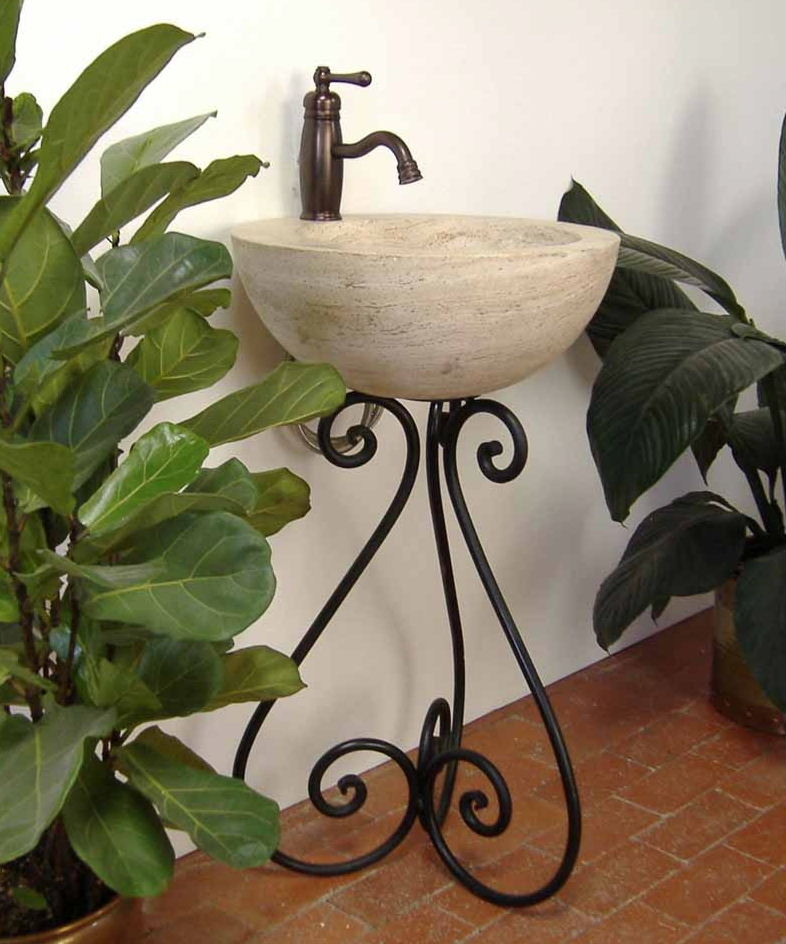 Ornamental Iron Vessel Sink Stand - Pancho