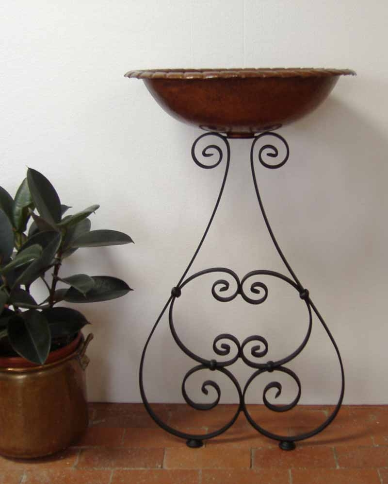 Ornamental Iron Vessel Sink Stand - Pirri