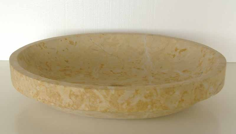 Oval Stone Vessel Sink | Oval Stone Vanity Sink | Oval Bathroom Sink - Simona