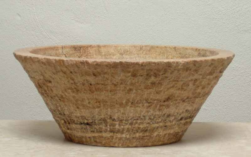 Regina - Red Travertine Vessel Sink