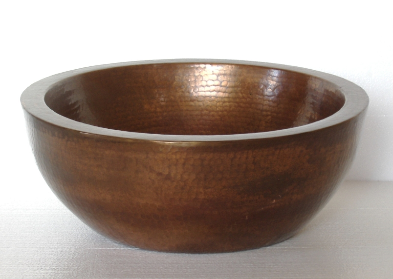 Oval Copper Vessel Sink | Oval Bathroom Sink | Copper Sink - Valeria